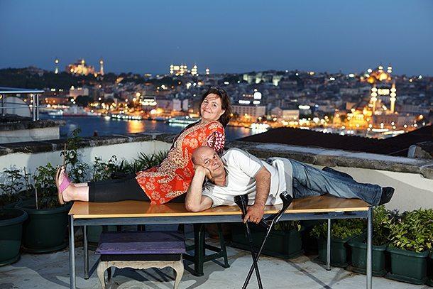 Erdoğan Altındiş und Gabriele Kern-Altındiş in Istanbul