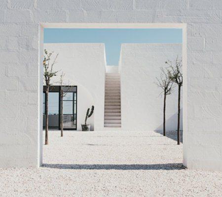 Inspirationen der urlaubsarchitektur: Pure White